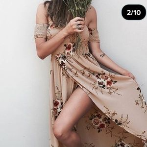 Dresses & Skirts - Floral High Low Maxi Dress size small/ med new